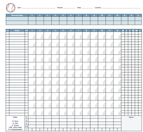 baseball score sheet template basketball scorebook sheet printable search results