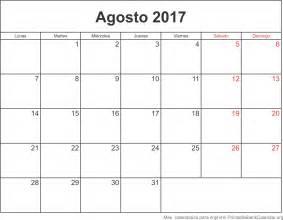 Calendario Agosto Calendario Para Imprimir Agosto 2017 Calendarios Para