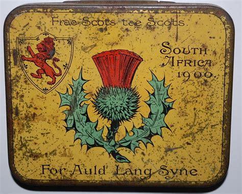 tin tae rare scottish army boer war tobacco tin south africa 1900