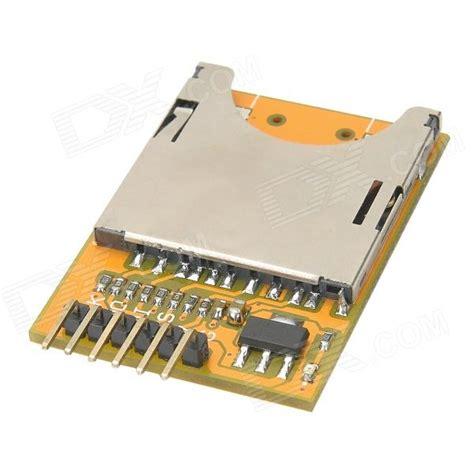 Cardreader Votre 1slot Microsd meeeno sd card slot socket reader module for arduino orange silver free shipping dealextreme
