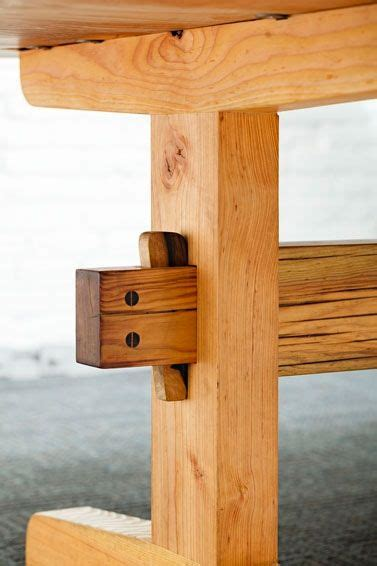 mortise  tenon trestle base  wedged english