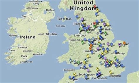 map uk prisons in and prisons 10 years of data