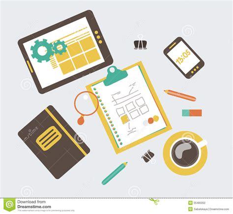 web layout vector flat modern illustration web design development w stock