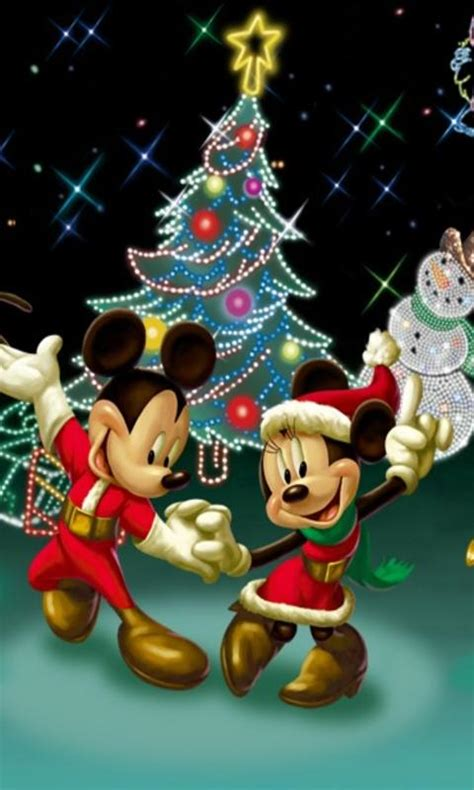free xmas screensaver for cell mickey minnie on