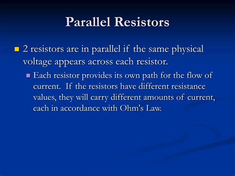 when parallel resistors are of three different values which has the greatest power loss ppt series and parallel circuits kirchoff s voltage and current laws powerpoint presentation