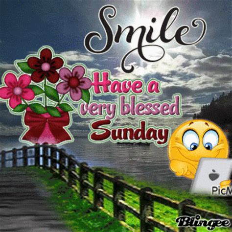 smile    blessed sunday picture  blingeecom