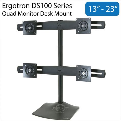 Ds100 Monitor Desk Stand by Ergotron Ds100 13 23 Inch Monitor Desk Mount Unbox