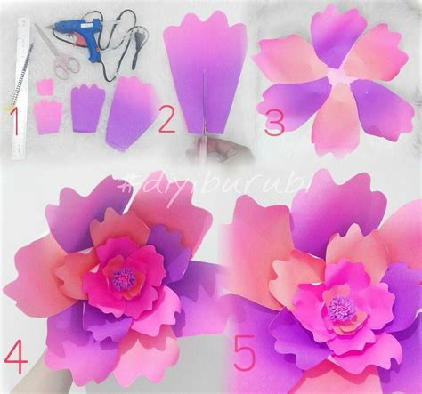 tutorial bunga kertas backdrop cara buat origami naga choice image craft decoration ideas