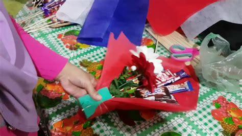 Coklat Bentuk Bunga Kecil chocolate bouquet