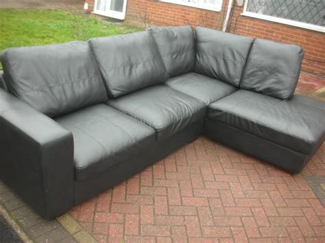 Black Leather Sofa For Sale by Black Leather Corner Sofa For Sale Dudley Dudley