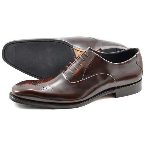 loake oxford shoes lyst loake howard leather brogue oxford shoes in brown
