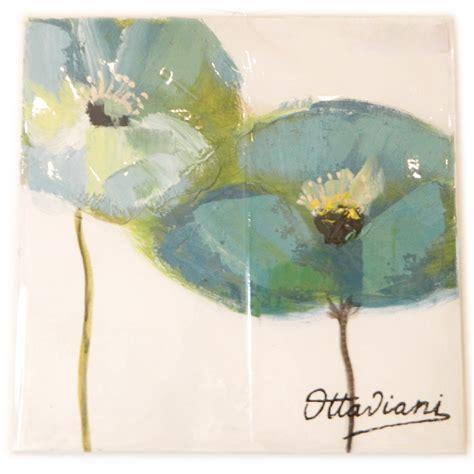 quadri ottaviani fiori ottaviani quadro su tela fiori azzurri su sfondo chiaro 30