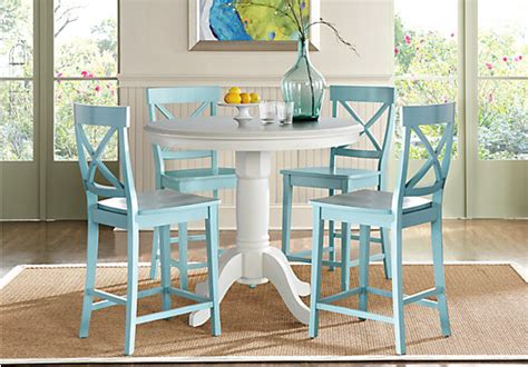 julian place vanilla counter height dining room table chair sets for sale