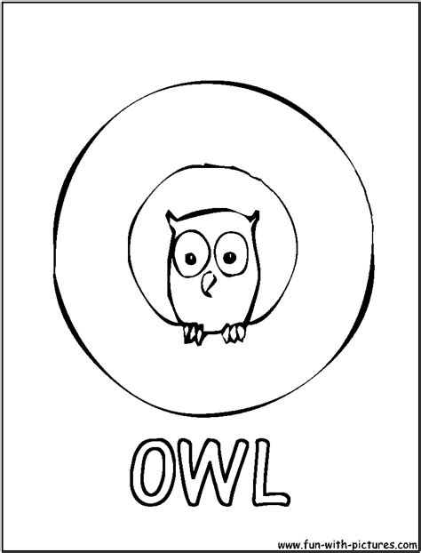 O The Owl Coloring Page by Free Coloring Pages Of O Is For Owl
