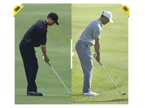 tiger woods swing tips how tiger s swing has changed how tiger woods today compares
