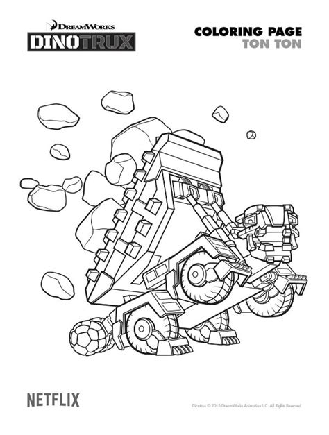dinotrux coloring page dinotrux revvit coloring pages coloring pages