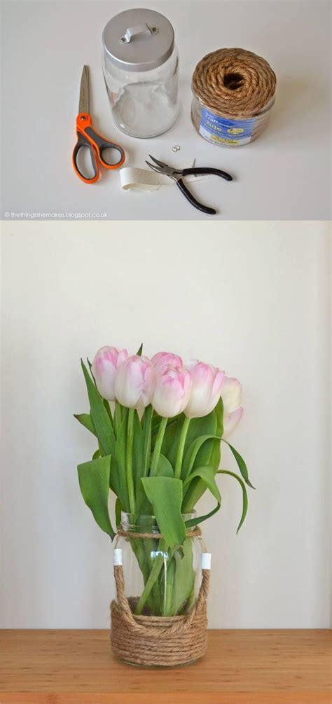 floreros con mason jars las 25 mejores ideas sobre florero de cuerda en pinterest
