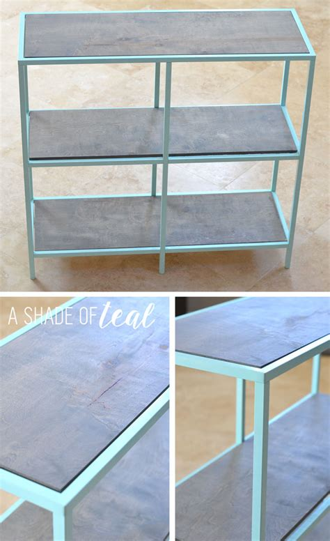 ikea shelving hacks big girl room ikea vittsjo hack mint bookshelf a shade
