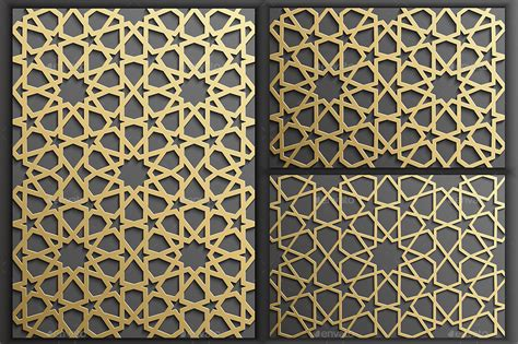 islamic web pattern gold islamic seamless pattern set 1 by adr7 graphicriver