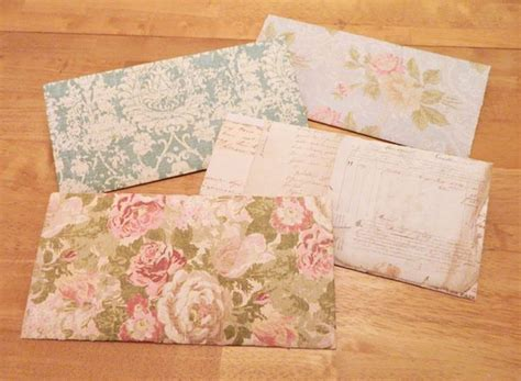 how to make a letter envelope out of 12x12 scrapbook paper