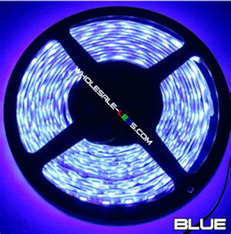 wholesale led light strips 5054smd blue super bright flexible led light strip 16 ft