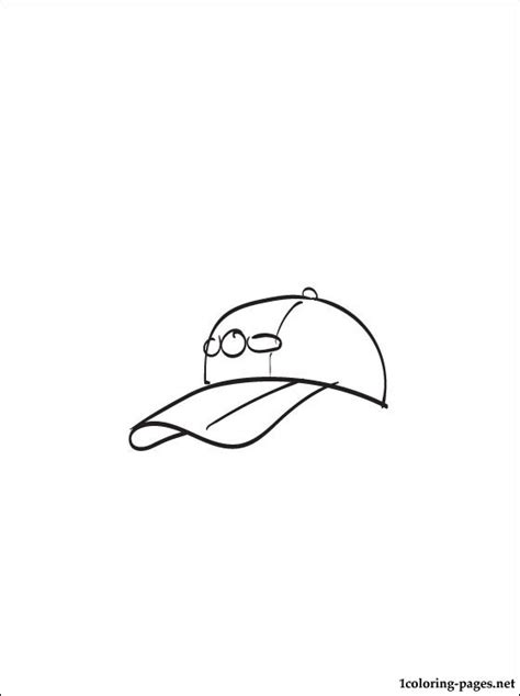 baseball cap coloring page for printing coloring pages