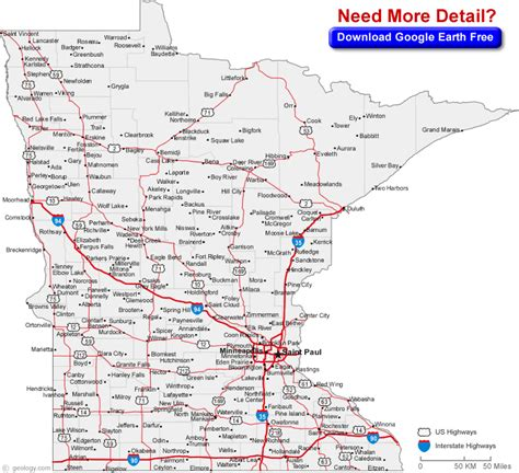 map of minnesota cities mn road maps