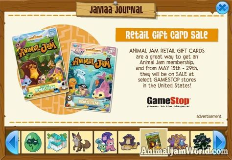 Animal Jam Retail Gift Card - jamaa journal gets a makeover lots of news this week animal jam world