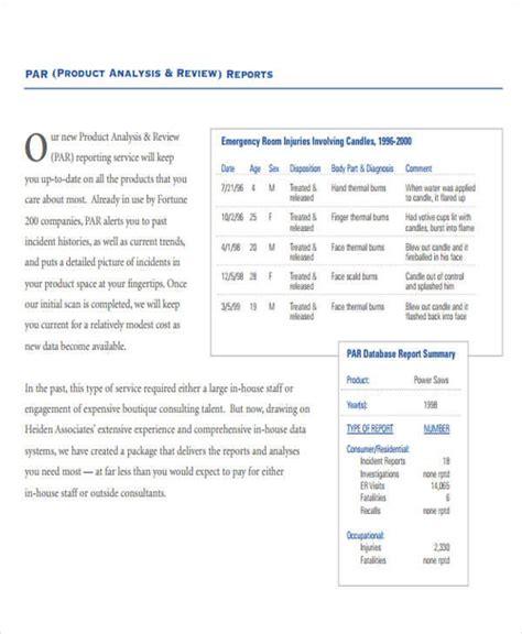 product analysis report sle 8 sle product analysis reports sle templates