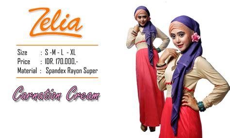Carnation Grosir Zelia Carnation Baju Muslim Gamis Modern