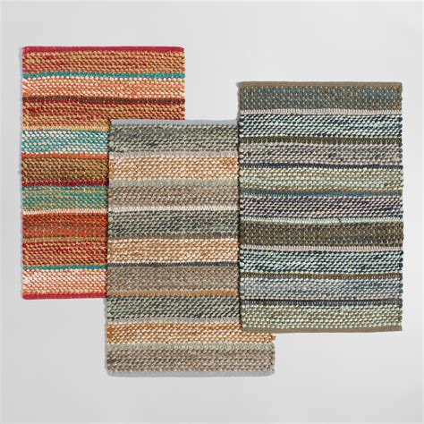 chindi rug world market 2 x3 multicolor wide stripe chindi area rug world market