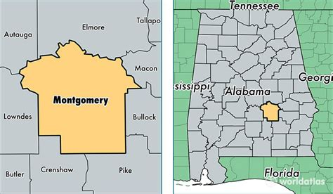 montgomery alabama map montgomery county alabama map of montgomery county al
