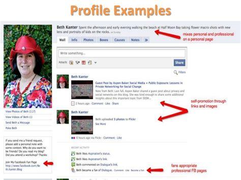 social network profile template social media personal branding networking