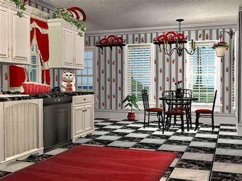 cherry kitchen decor mod the sims mcalli s cherry kitchen