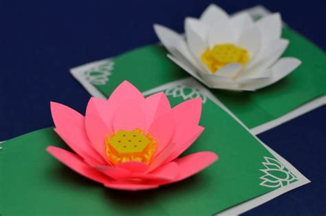 lotus flower pop up card template free simple s day pop up card template creative pop up
