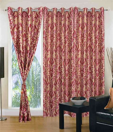 maroon curtains homezaara stylish maroon door curtain set of 3 buy