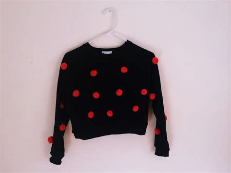 Pom Crope Hoodie Sweater 1 magical clothing 3d pom pom crop sweater store powered by storenvy