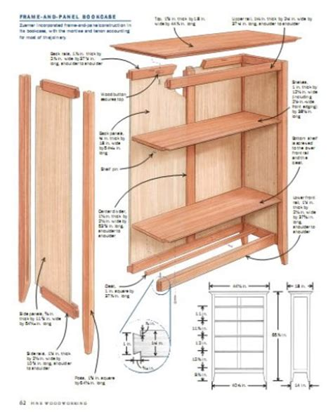 one of a woodworking bookshelf plans