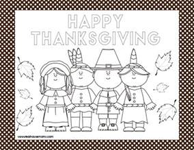 thanksgiving coloring placemats printable thanksgiving placemats real housemoms