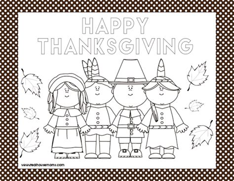 thanksgiving coloring page placemat printable thanksgiving placemats real housemoms