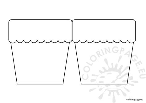 free coloring pages flower pots flower pot template template business