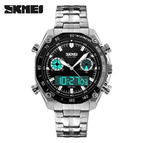 Jam Tangan Casual Skmei Tahan Air jual jam tangan pria skmei dual time casual stainless