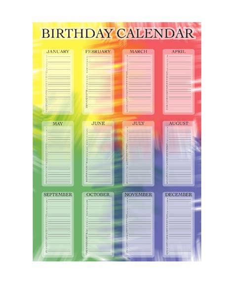 printable birthday calendar templates  eps