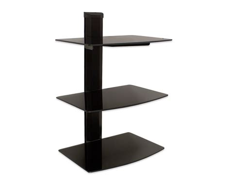 Small Component Shelf by 3 Tier Small Glass Shelf Wall Mount Tv