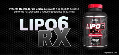 Dijamin Nutrex Lipo 6 Rx lipo 6 rx potente quemador de grasa