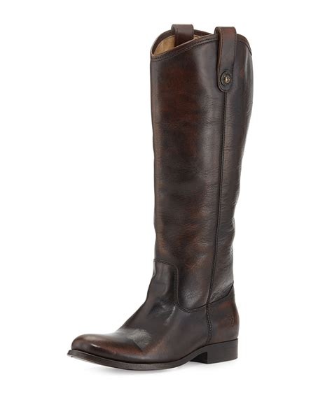 frye boots button frye leather button boot in brown brown lyst