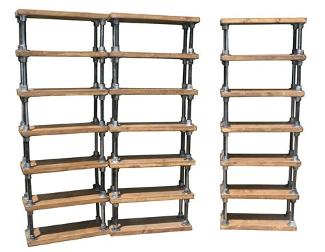 industrial style rustic scaffold shelving unit