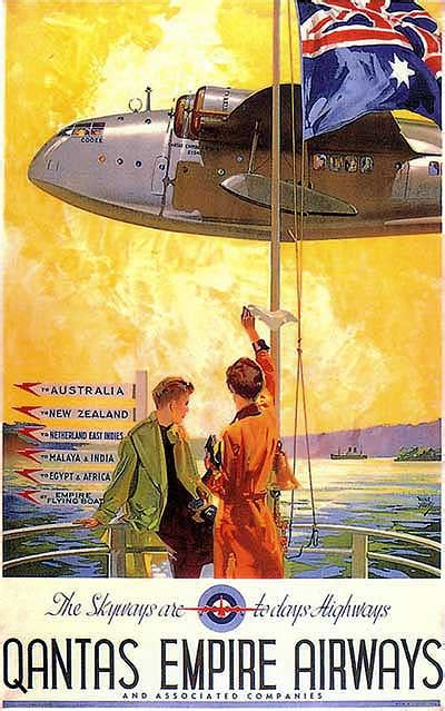 flying boat poster qea empire flying boat poster