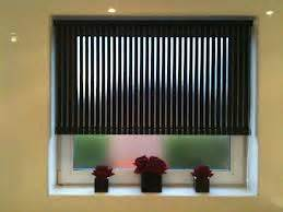 black vertical blinds for small window 3817
