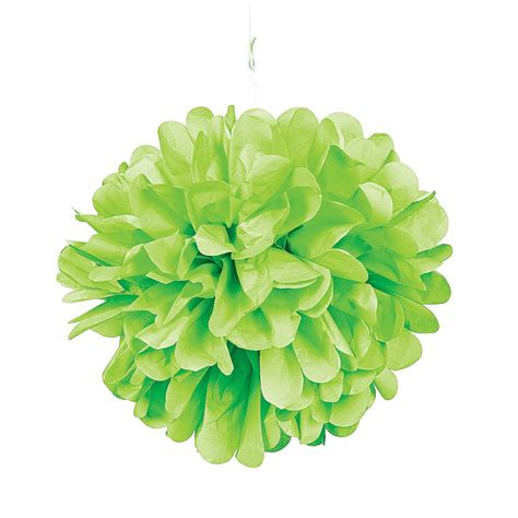 lime green decorations lime green pom pom tissue decorations trading